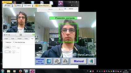 Ein Mann steuert einen Computer mit Kopfbewegungen